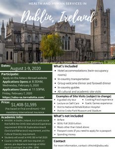 Download the Dublin Study Abroad Flyer