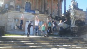 Study Abroad Students Jumping