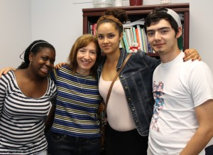 Donna Daly with students