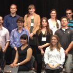 Kristi Hendrickson (2nd row, 2nd from right) with fellow winners at the CSU Research Competition