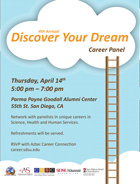 """""""Discover Your Dream"""" flyer"""