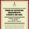 Nov. 15, 2017 – Forum on Supporting Undocumented Students and DACA