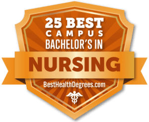25 Best Campus Bachelor's in Nursing from BestHealthDegrees.com