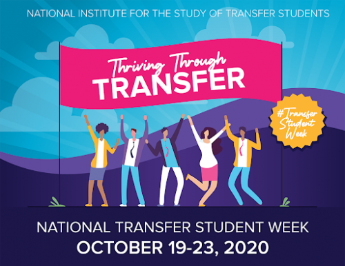 National Institute for the study of transfer students. Thriving through Transfer #TransferStudentWeek National Transfer Student Week October 19-23, 2020
