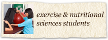 Exercise and Nutritional Sciences Students