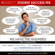 Aug. 31 and Sep. 8 – Student Success Fee Workshops!